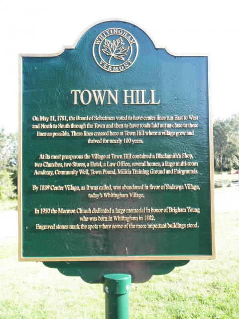 Town Hill marker